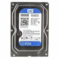 "Western Digital BLUE WD5000AZLX 500G SATA 3.5"" HDD 7200 RPM SATA 6Gbs 32MB Cache"