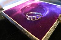 Ausgefallener Designer 925 Silber Ring Kreis