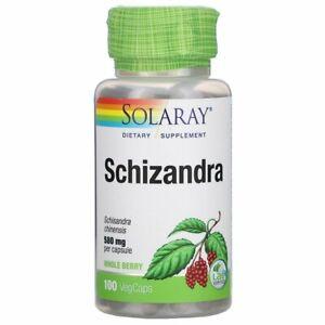 Solaray, Schizandra, 580 mg, 100 VegCaps , Exp Date:05/2024