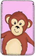Monkey Design (Pink) Neoprene Case fits JYJ 7 inch Android Google Tablet