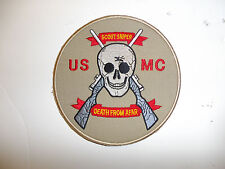 b0519 USMC Sniper Patch Death from afar Scout Sniper R7C