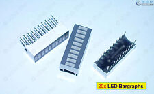 20x LED Bargraph 10-Segs (for Arduino Raspberry LED Audio VU Meter Light) - USA