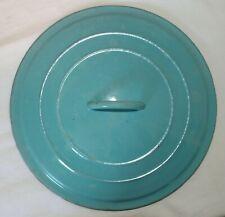"""Vintage Le Creuset Dutch Oven LID """" E """" 4.5Qt * PARIS BLUE HTF * 4-1/2 Qt Cover"""
