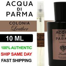 Acqua Di Parma Colonia Leather Eau de Cologne Concentree Men's 10ml Decant Spray