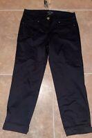 White House Black Market Crop Leg Pants Women's Size 4 Black New With Tags NWT