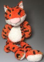 Cuddle Factory Tiger Plush Stuffed Animal Soft Toy Orange Black Blue Eyes Claws