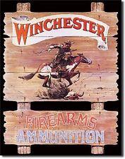 WINCHESTER - Express Rider Tin Sign rifle shotgun handgun hunting