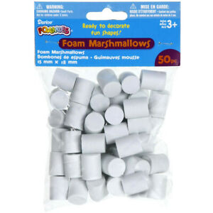 Foam Marshmallow Shapes 50Pkg-15Mmx18Mm