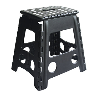 MULTI PURPOSE PORTABLE FOLDING STOOL HOME SMALL SEAT PLASTIC COLLAPSIBLE STEP