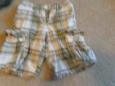 Size 10 Boys Route 66 Shorts White And Green Plaid