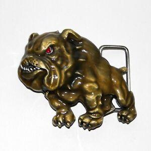 BULLDOG Belt buckle Siskiyou gold color enamel Unused dog