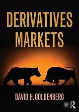 Derivatives Markets by David H. Goldenberg (2016, Hardcover)