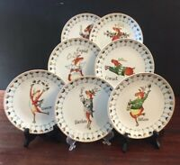 Prima Design Holiday Dessert Plate Winky Wheeler Reindeer Sold by Piece