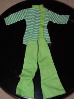 Vintage Peggy Ann Green Stripe Clothes Outfit Barbie Clone Hong Kong