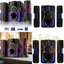 2.1-channel bluetooth multimedia wired speaker stereo shelf system   sound usb