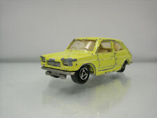 Diecast Majorette Fiat 127 No. 203 Yellow Good Condition
