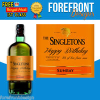Personalised Whiskey Bottle Label, Perfect Birthday/Wedding/Graduation Gift