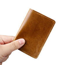 Genuine Leather Slim Wallet Small Compact Credit Card Holder for Front Pocket