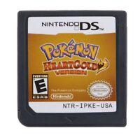 Pokemon HeartGold SoulSilver Game Cards Nintendo 3DS NDSI NDS Lite e F01