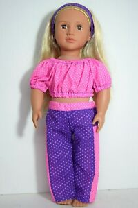 CLOTHES FOR 18INCH DOLL ~ OUR GENERATION, AMERICAN GIRL SPOTTED JOGGERS & TOP