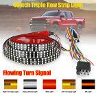 48 Triple Row Truck Tailgate Light Bar Led Strip Reverse Brake Turn Signal Lamp