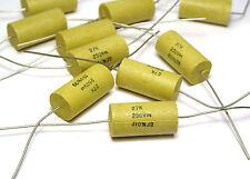 10x PHILIPS Molden CONDENSATORE 0.027 µF/250 V, assiale, F. TUBI AMPLIFICATORE, NOS