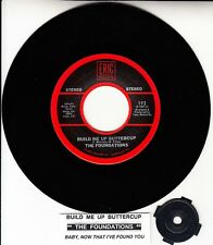 "THE FOUNDATIONS  Build Me Up Buttercup & Baby, Now That I've Found You 7"" 45 NEW"