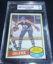MARK MESSIER #289  1980-81 (rookie card)  O-PEE-CHEE HOCKEY CARD , KSA GRADED
