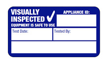 1040x Visual Inspection PAT Test Labels (Portable Appliance Stickers)