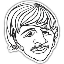 "The Beatles Ringo Starr photo Vinyl Car Sticker Decal 4"" x 4"""
