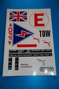 RACE/RALLY scrutineer sheet- motorsport/decal sheet/safety sticker sheet