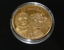 Sitting Bull 24k Gold Layered Commemorative Piece With COA (Retails For: $79.95)