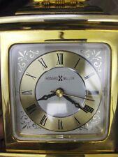Fabulous Gold Tone Howard Miller Mantel Clock Alarm Clock