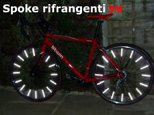 SPOKE ASTE RIFLETTENTI CATARIFRANGENTI BIKE BICI 12 PEZZI SICUREZZA MATERIALE 3M