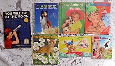 SEVEN VINTAGE CHILDREN'S BOOKS LITTLE GOLDEN TIP TOP ELF MORE