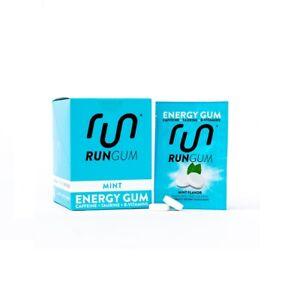 Run Gum Energy Gum Original Mint Flavour - 12 Packs of 2 - 50mg Caffeine/Serving