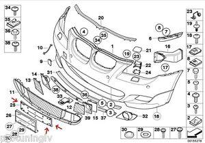 FOR BMW E60 E61 M Sport front bumper numberplate number plate base holder frame