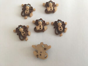 DRESS IT UP SEW CUTE MONKEYS CHEEKY FUN CHILDRENS CAKE TOPPERS CRAFTS