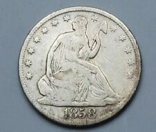 1858-O Seated Liberty Half Dollar - New Orleans Mint Silver US Coin - lot v