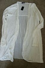 NWT The Limited Cardigan knit Open Front Long Sleeve tissue knit chiffon back XS