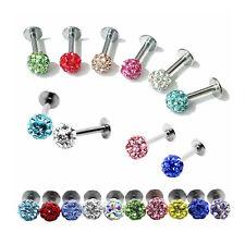 Lip Ear Rings Piercing Stud Crystal Ball Tragus Bar Monroe Labret for Women