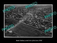 OLD POSTCARD SIZE PHOTO BUTLER INDIANA AERIAL VIEW OF THE TOWN c1950 1