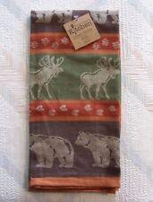 Bear Moose Jacquard Tea Towel Bear Moose Pattern Kay Dee Cotton