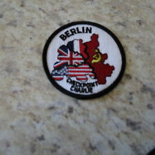 U.S. ARMY CHECKPOINT CHARLIE  COLD WAR PATCH