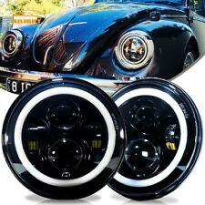DOT 7 inch Round LED Headlights Kit Upgrade Hi/Low Beam for VW Beetle Classic