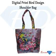 Digital Print Canvas Bird Design Shoulder Bag (FB-17)
