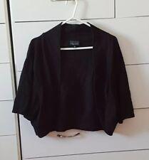 CITY CHIC Black Cardigan Cropped Cardi Plus Size XL 20 22 C6