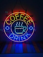 "New Coffee Cafe Drink Neon Sign 24""x20"" Light Lamp Bar Pub Poster Holiday Gift"