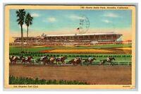 Santa Anita Park, Arcadia CA Los Angeles Turf Club Linen Postcard I21