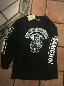 Sons of Anarchy Logo Men's Long Sleeve T-Shirt-NEW-Available in XL